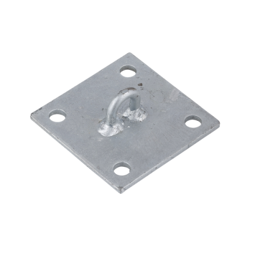 150mm Wall Plate Diagonal Galvanised Steel Wall mounting shade sail accessory