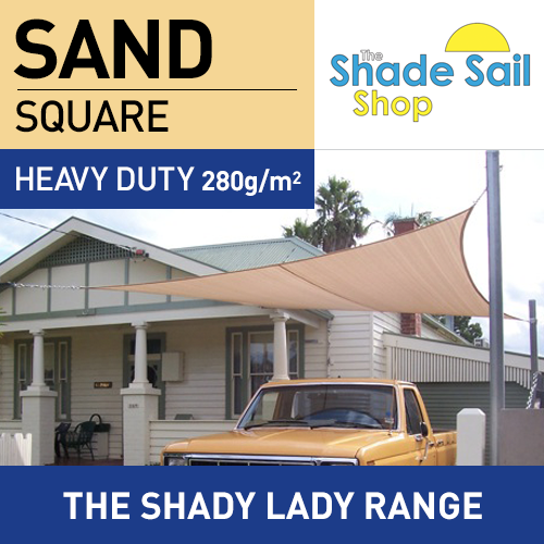 2.5 m x 2.5 m Square SAND The Shady Lady Range