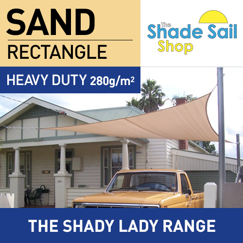 2.5 m x 4 m Rectangle SAND The Shady Lady Range