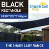 2 m x 3 m Rectangle BLACK The Shady Lady Range