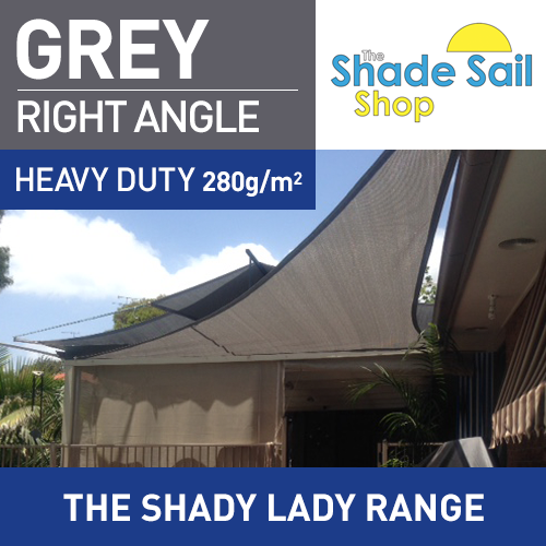 3 x 4 x 5 m GREY Right Angle The Shady Lady Range
