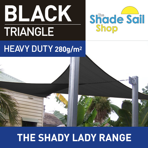 2 x 2 x 2 m BLACK Triangle The Shady Lady Range