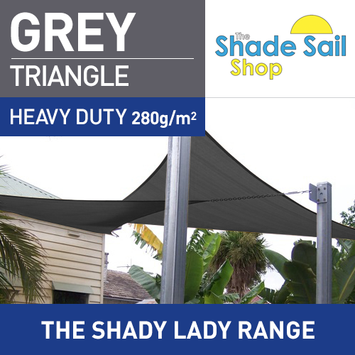 3 x 3 x 3 m GREY Triangle The Shady Lady Range