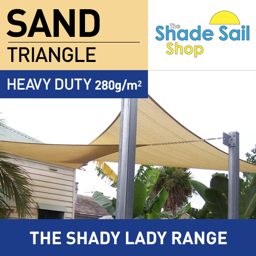 6 x 6 x 6m SAND Triangle The Shady Lady Range