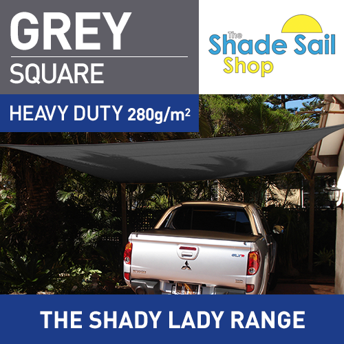 6 m x 6 m Square GREY The Shady Lady Range