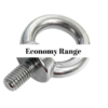 Eye bolt with collar Economy Range 304 stainless steel