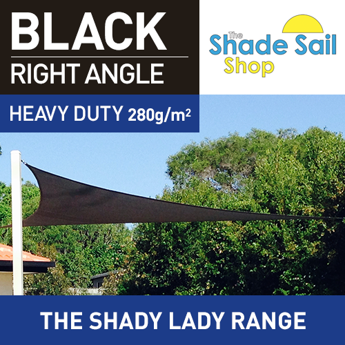 5 x 5 x 7.07m  Right Angle BLACK The Shady Lady Range