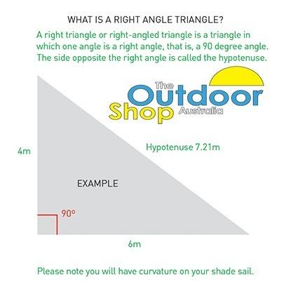 5 x 5 x 7 07m Right Angle BLACK The Shady Lady Range