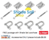 Square / Rectangle Shade Sail Installation Kit 6mm DIY shade sail