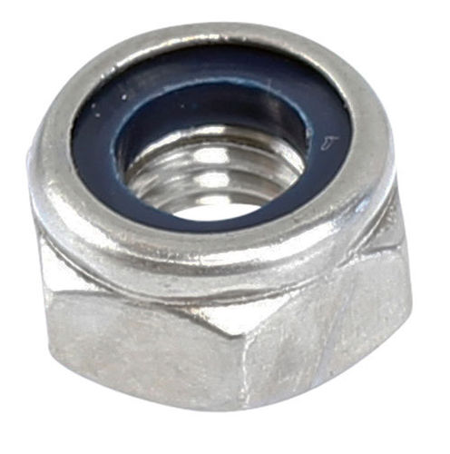 M6 Nylon Lock Nut 316 Grade Stainless Steel