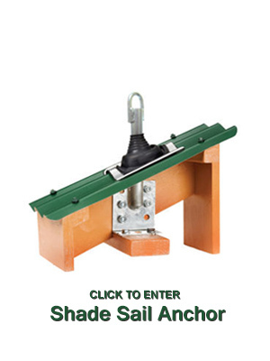 Shade Sail Roof Anchor rafter bracket with Weather Seal