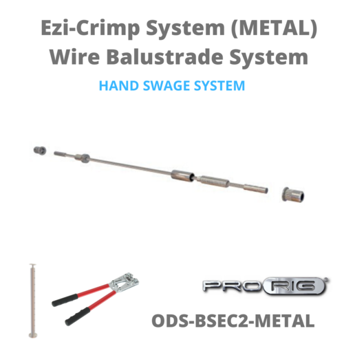 Ezi-Crimp DIY Wire Balustrade System (Metal) wire cable