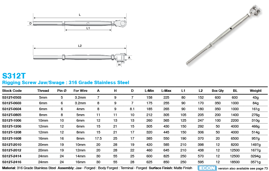 S312T_jaw_swage_rigging_screw_dimensions