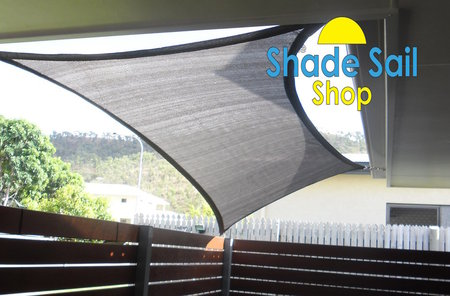Our 1.2 m x 2.3 m shade sails are great to use in small areas, as shown in this photo. Colour is Dark Grey\\n\\n21/10/2014 9:10 PM