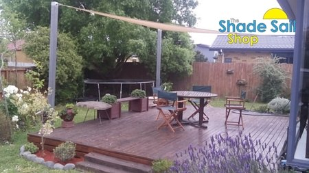 A 4.5x4.5x4.5 Triangle shade sail have been used over the back deck of our customer in Christchurch NZ. A perfect fit. Thanks so much for your great photos.\\n\\n1/12/2015 11:03 AM