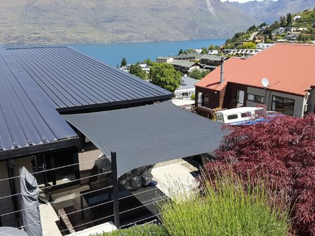 Some great pictures from Jason from Queenstown NZ, who has installed our 3.5x4m Custom Style 340gsm shade sail. What a great view you have thanks for sending in your photo's.\\n\\n21/12/2016 3:54 PM