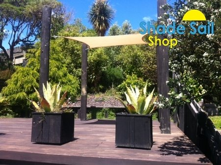 Aurea Canduela from Wellington, NZ sent us this great picture of how she has installed the 2x2 sand square shade sail.\\n\\n28/11/2014 2:36 PM