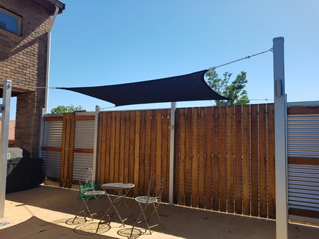 Thanks so much Suzi for sending in your photo's. Pictured is a 2x3m Black Shady Lady Shade Sail\\n\\n7/02/2017 2:48 PM