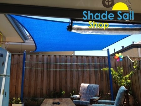 Thanks a lot for sending in your photo's much appreciated by The Shady Ladies. Glenn installed a 3x3m blue square shade sail\\n\\n16/11/2015 4:25 PM