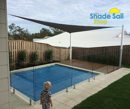 Our 4x6x7.21m right angle shade sail in Grey is a perfect fit over Adam's swimming pool area. Thanks so much for sending your installed shade sail photo in.\\n\\n25/11/2015 3:17 PM