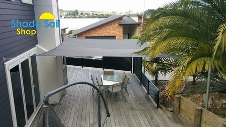 Thanks to Brett from Tauranga in NZ for sending in his shade sail photo's, Great work installing our 5x6m shady lady grey shade sail.\\n\\n28/10/2016 12:07 PM