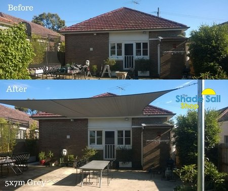 Thanks to Catherine from NSW for sending in her before and after photo. Size is 5x7m in the standard Grey Range. Much appreciate and looks fantastic.\\n\\n13/11/2015 10:36 AM