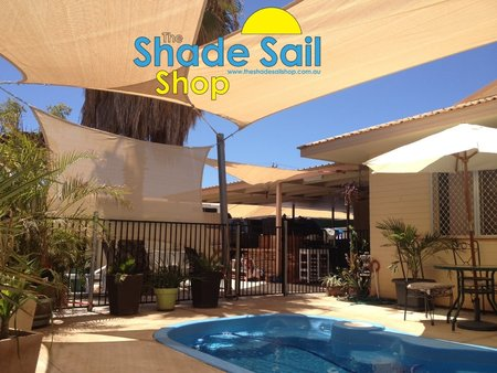 a mixture of rectangle sand shade sails have been used here\\n\\n8/01/2015 4:34 PM