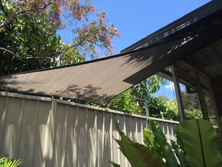 Our regular customer Boris has installed our 3x3x4.24m right angle shade sail over his fish pond, which looks great and is keeping this cool. Look forward to seeing the next project\\n\\n23/12/2015 3:28 PM