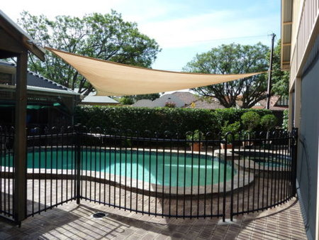 Thanks Brian for sending in your shade sail picture. Brian has installed a 8x8x8m sand shady shade sail over his pool, providing some much needed shade.\\n\\n18/01/2017 10:58 AM