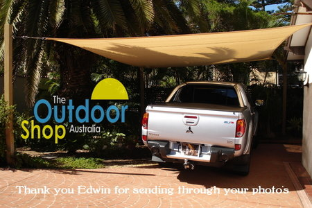 Edwin has used his shade sail to protect his car. Shade sails are great for area's where leaves drop and birds make a mess.\\n\\n4/06/2014 7:12 PM