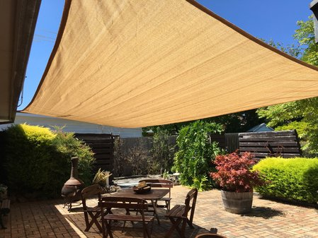 Thanks Elizabeth for sending in your photo, installed is a 3x7m shade lady sand shade sail.\\n\\n7/02/2017 3:19 PM