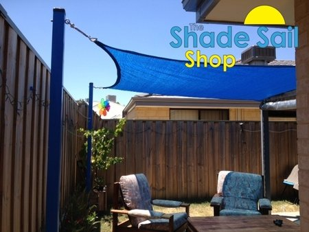 Glenn has install a 3x3m Square blue shade sail in his backyard. Using our stainless steel turnbuckles to connect the shade sail to the post. Looks Fantastic.\\n\\n16/11/2015 4:25 PM