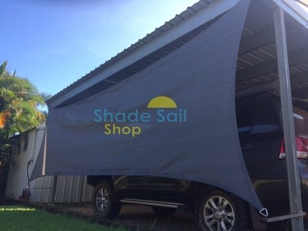 Thanks to Nikki & Daniel for sending in their pictures of newly installed rectangle shade sail used here to add some protection to the side of the carport.\\n\\n25/08/2015 3:43 PM
