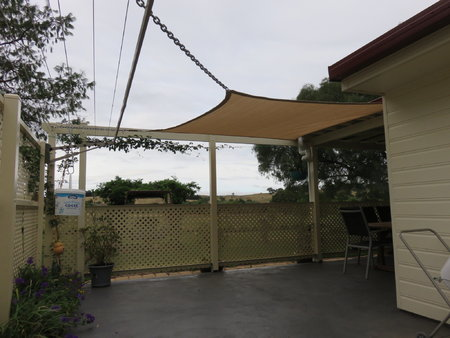 Thanks Rob for you picture. Installed is a 2.5x2.5m shady lady sand shade sail.\\n\\n7/02/2017 3:14 PM