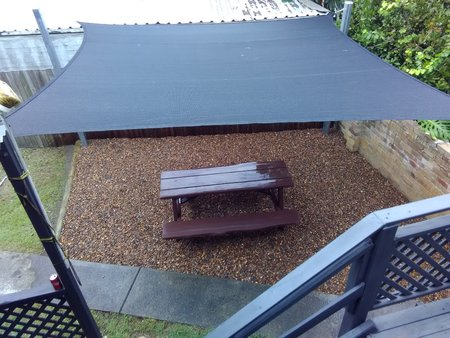 Shade Sail Right Angle Triangle 4x5x6.4m Black 280gsm Super strong 4 x 5 x 6.4 m