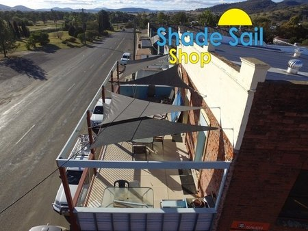 Thanks so much Liam from Werris Creek in NSW for sending in these great shots which have been taken from a drone. Our first drone shots, the design looks fantastic. Thanks so much. Size 3x3x4.24m in black and grey from our shady lady range.\\n\\n12/06/2017 6:15 PM