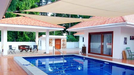 Great pictures from our Thailand customer of our shade sail over his pool. Great installation job by all who where involved.\\n\\n8/01/2017 11:08 AM